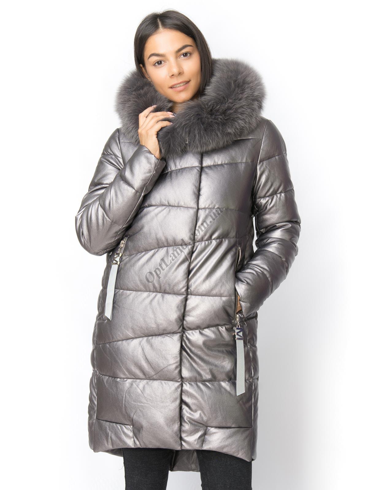 Зимняя куртка Lims 18-207 из экокожи