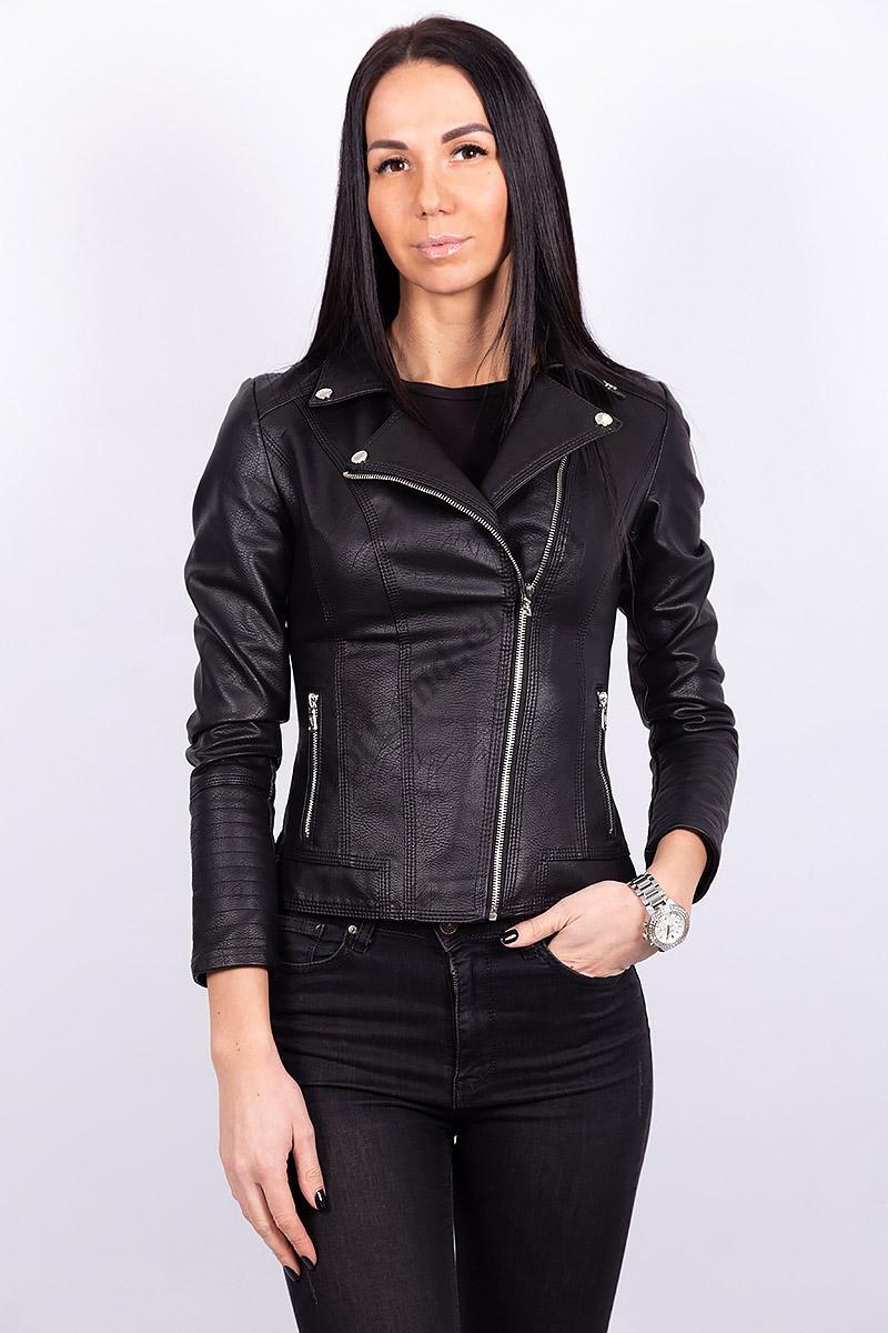 Женская куртка из экокожи R-5