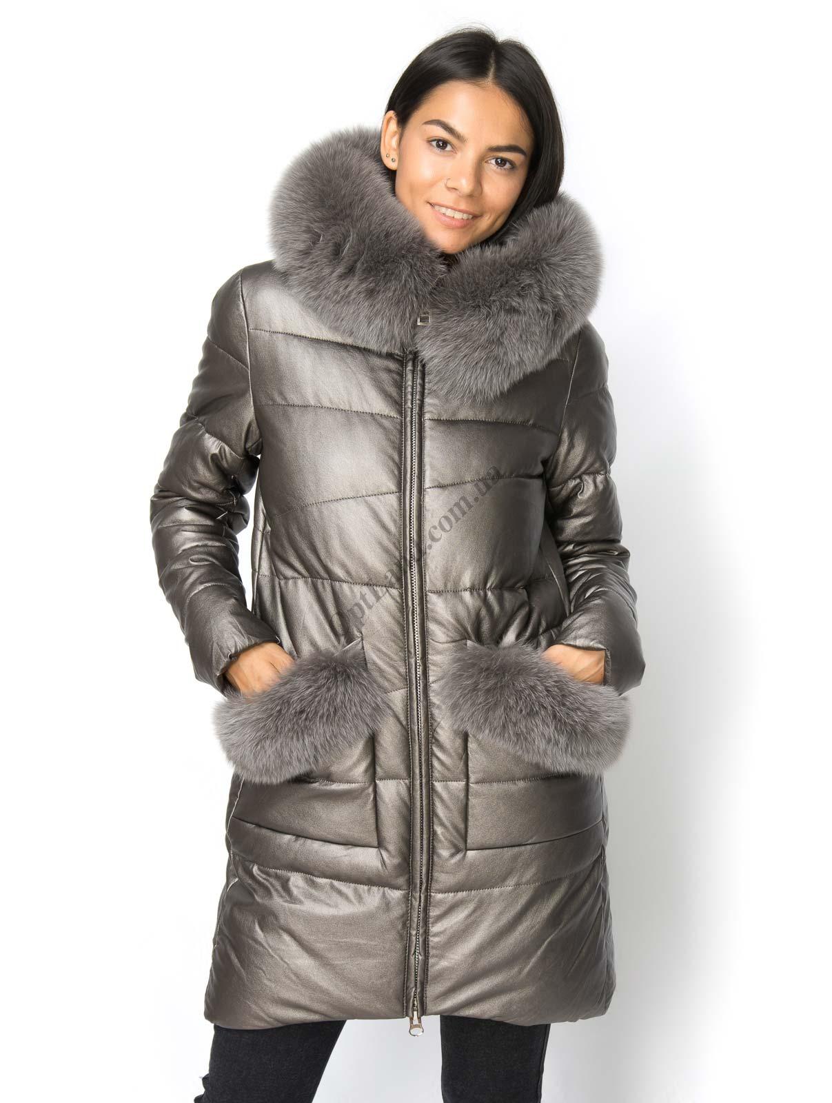 Зимняя куртка Lims 18-202 из экокожи