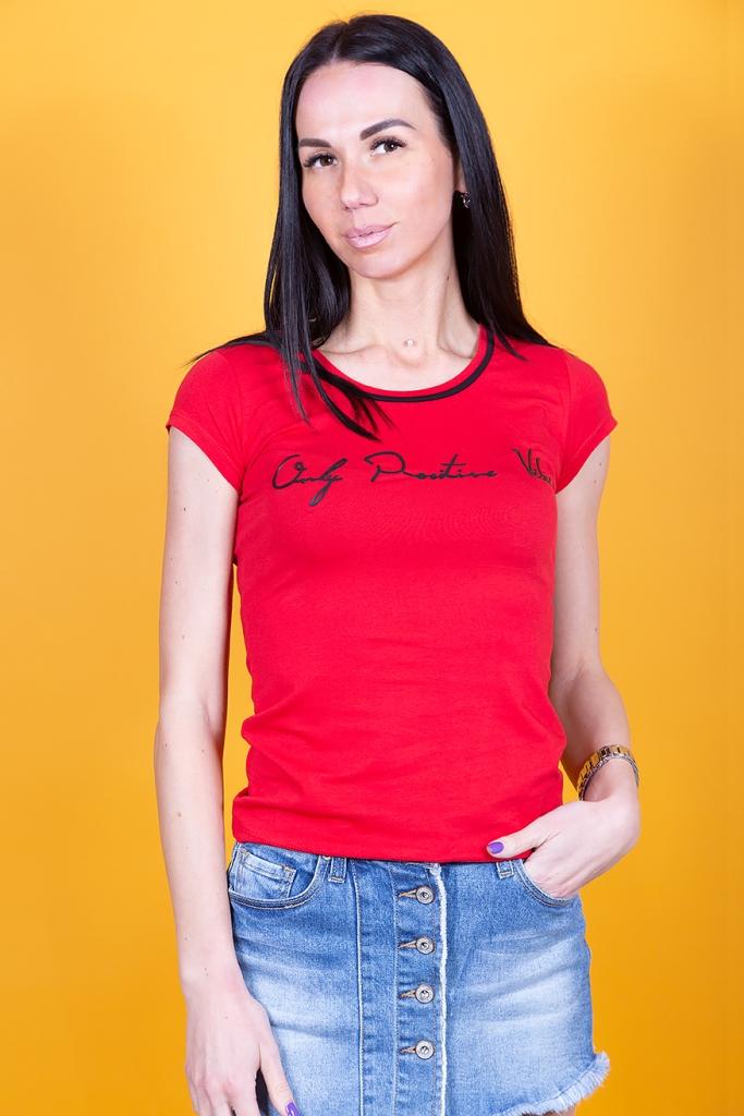 Женская футболка однотон