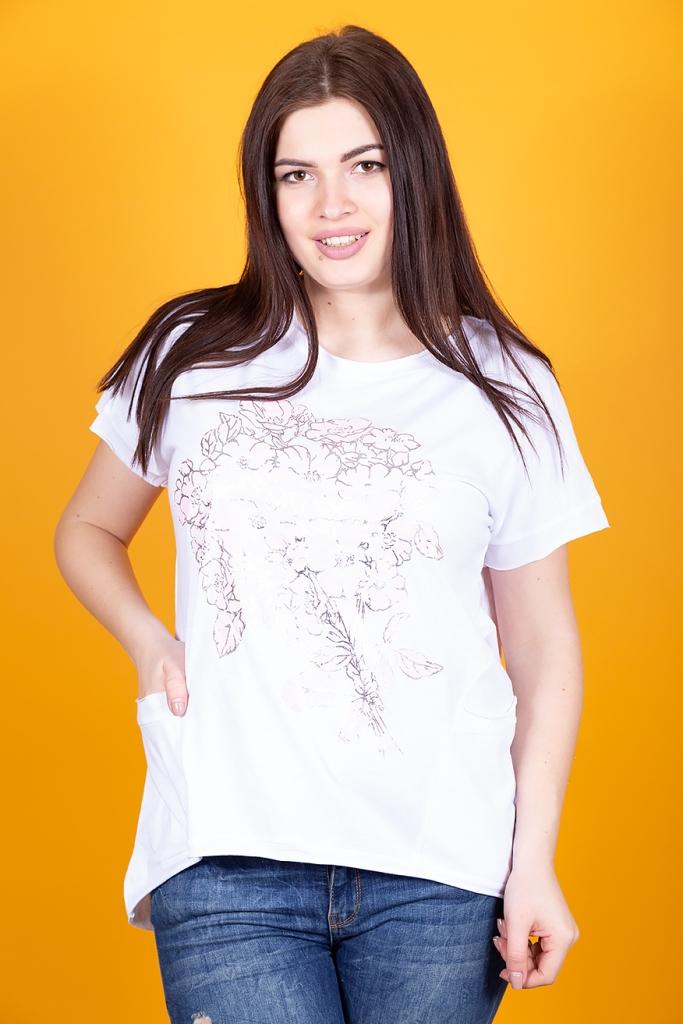 Женская футболка с карманами