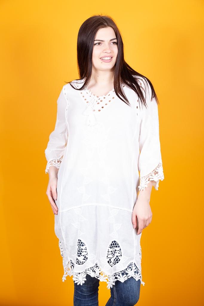 Кружевная туника-платье